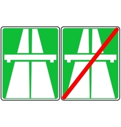 green freeway signs on vector image vector image