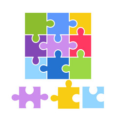 kid toy puzzle picture game children constructor vector image
