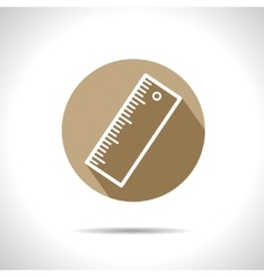 ruler outline icon Eps10 vector image vector image