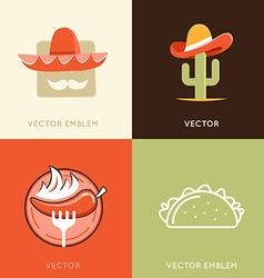 set of abstract logo design templates and badges vector image vector image