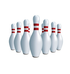 sports game bowling vector image vector image