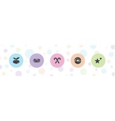 5 sugar icons vector