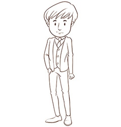 A boy in a formal attire vector