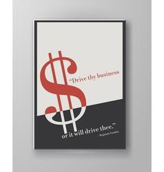 Abstract creative retro poster vector image