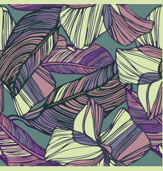 Abstract graphic flowers vector