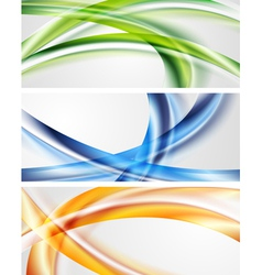 Abstract waves banners vector image