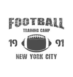 American football New York training camp badge vector image vector image