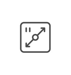 Area line icon vector