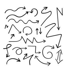 arrow handdrawn curve icon doodle vector image