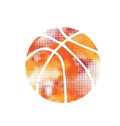 basketball orange halftone vector image