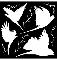 Bird silhouettes cut-out vector