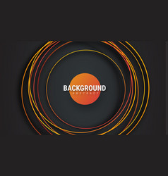black background with orange intersecting lines vector image