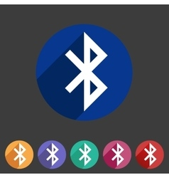 Bluetooth connection icon flat web sign symbol vector image