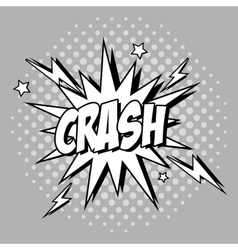 Bubble pop art of crash design vector