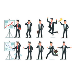businessman character office employee workers vector image
