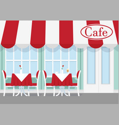 Cafe or restaurant table vector