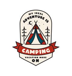 Camping adventure emblem design outdoor logo logo vector