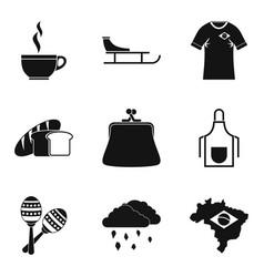 Coffee break icons set simple style vector