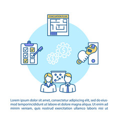 Crisis management concept icon with text ppt page vector