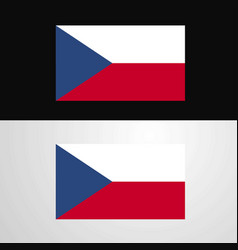 Czech republic flag banner design vector