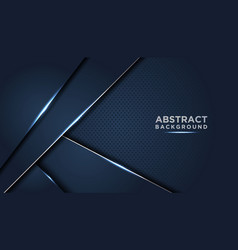 dark abstract background with dark blue overlap vector image