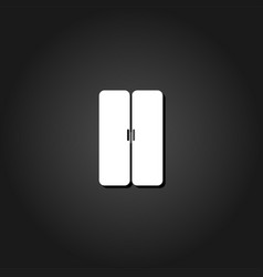 double door icon flat vector image