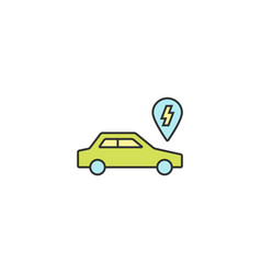 electric car conceptual icon vector image