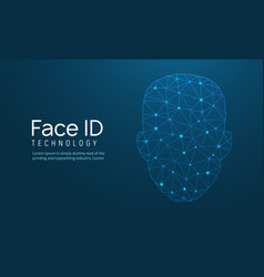 Face recognition biometric id face scan vector