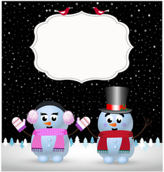 Festive winter greeting card template of cute vector