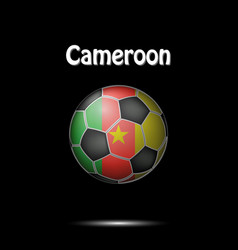 flag of cameroon in the form of a soccer ball vector image