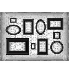 Frames on ornamental grunge background vector image