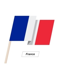 France Ribbon Waving Flag Isolated on White vector