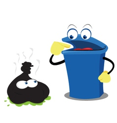 Funny Waste and a Bin vector image