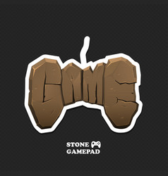 gaming icon isolated gamepad logo with vector image