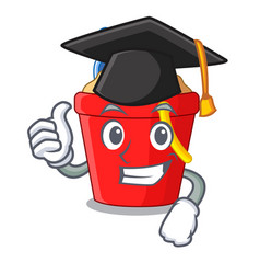 graduation beach bucket shape the fun character vector image