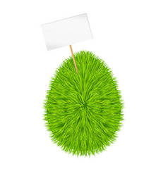 grass egg banner happy easter vector image
