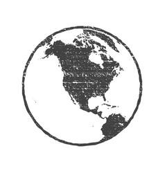 grunge texture gray world map globe transparent vector image