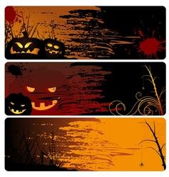 Halloween Banner Set vector