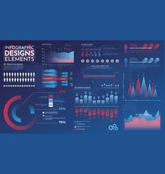 infographics elements modern infographic vector image