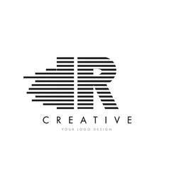 Ir i r zebra letter logo design with black and vector