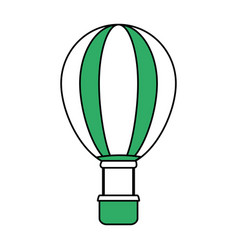Isolated hot air balloon design vector