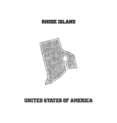 label with map rhode island vector image