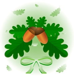 leaves and acorns vector image