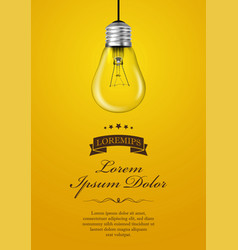 light bulb for energy and idea concept vector image