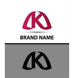 Logo k letter design template vector