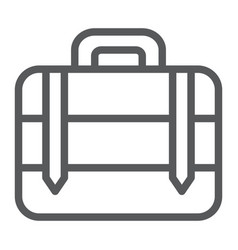 luggage line icon bag and baggage suitcase sign vector image
