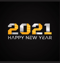 Luxury design 2021 happy new year logo text on vector