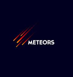 Meteors or comet logo vector