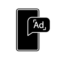 mobile advertising glyph icon vector image