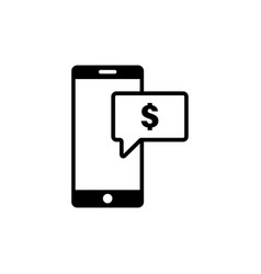 mobile dollar icon graphic design template vector image